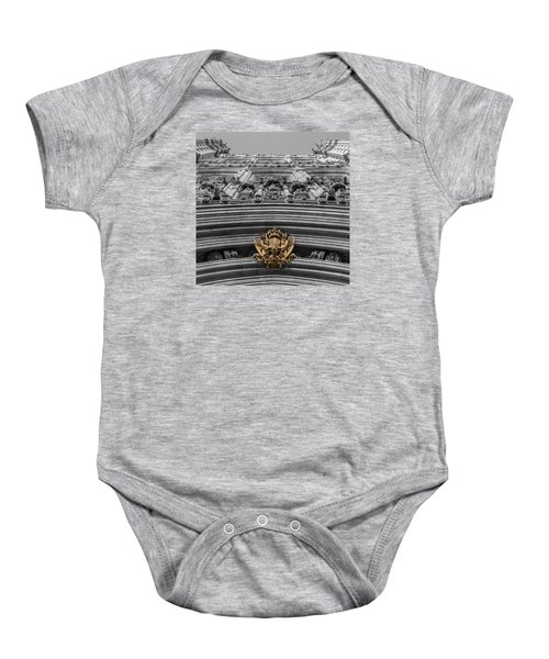 Victoria Tower Low Angle London Baby Onesie