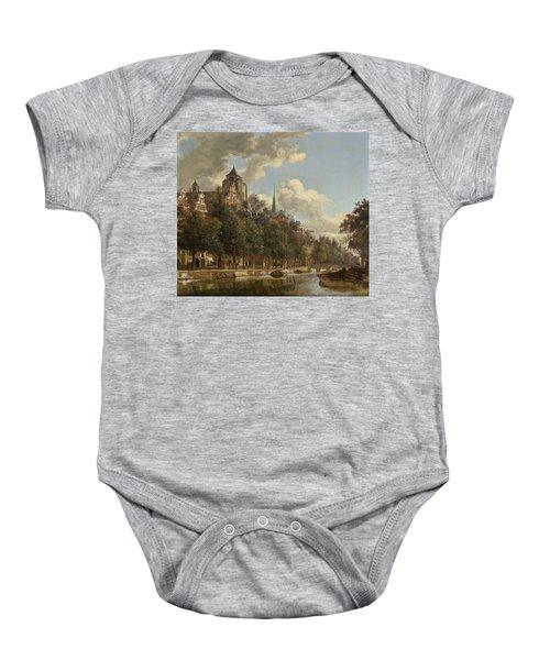 View Down A Dutch Canal Baby Onesie