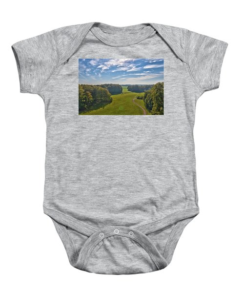 View From Lilac Mountain Baby Onesie