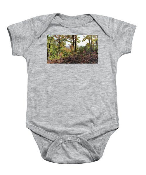 View From The Top Of Brown's Mountain Trail, Kings Mountain Stat Baby Onesie