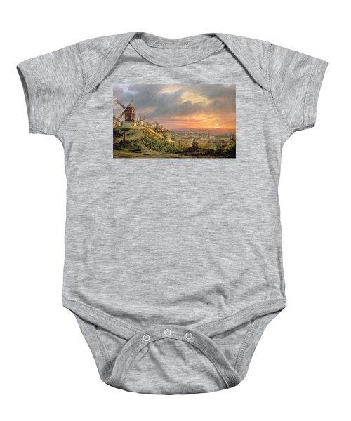 View Of The Butte Montmartre Baby Onesie
