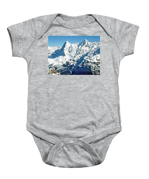 View Of The Eiger From The Piz Gloria Baby Onesie