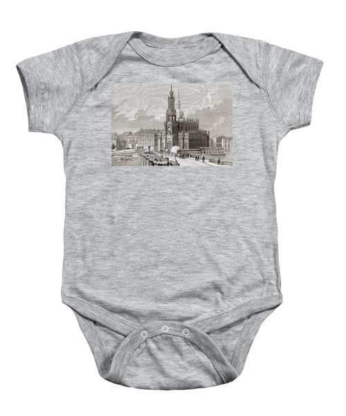 View Of The Katholische Hofkirche And Baby Onesie