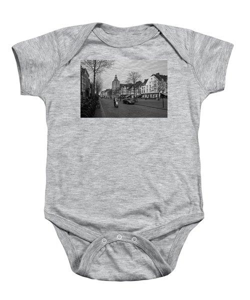 View To The Bosch Street In Maastricht Baby Onesie by Nop Briex