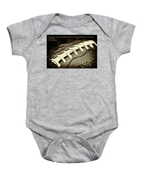 Vince Lombardi Perfection Quote Baby Onesie