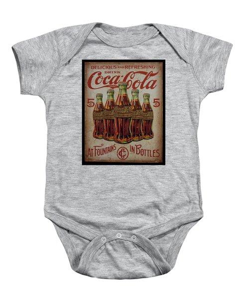 vintage Coca Cola sign Baby Onesie