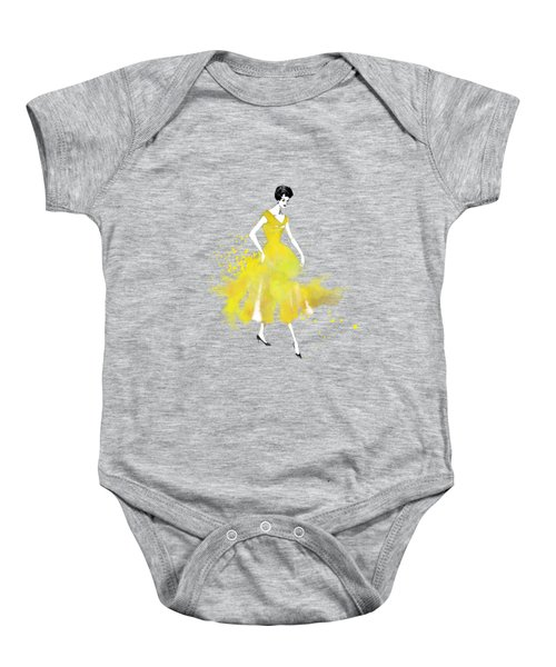 Vintage Yellow Dress Baby Onesie by Diana Van