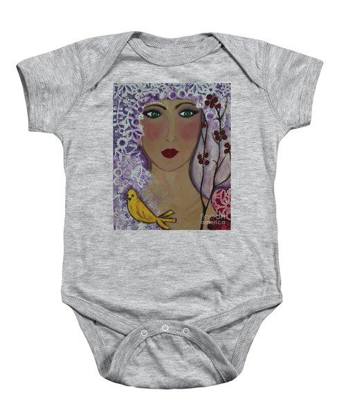 Violet Queen Baby Onesie