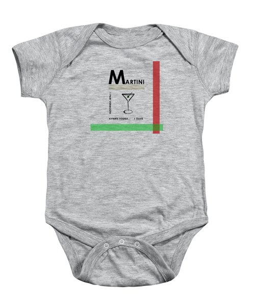 Vodka Martini Baby Onesie by Mark Rogan
