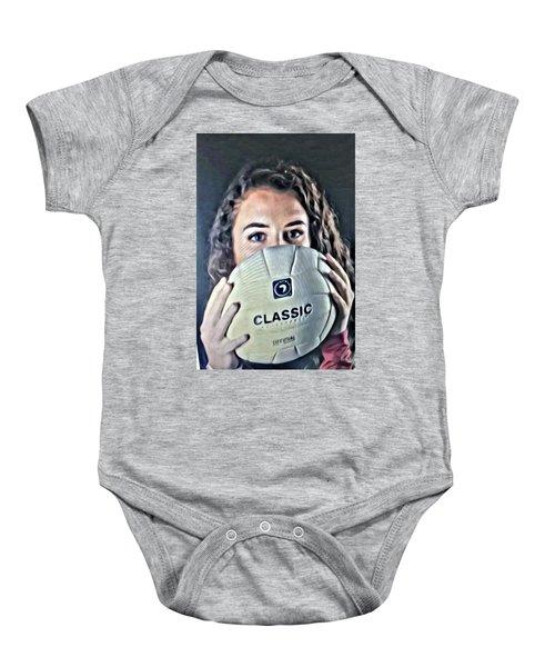 Volleyball Beauty Girl Baby Onesie