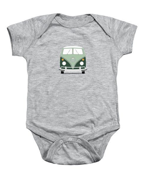 Vw Bus Green Baby Onesie