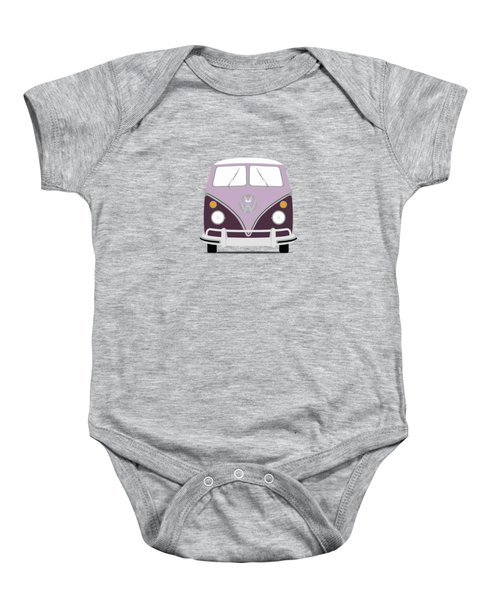 Vw Bus Purple Baby Onesie