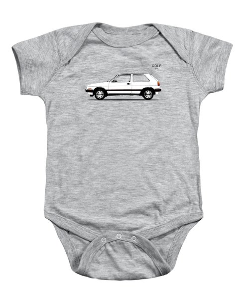 Vw Golf Gti Baby Onesie by Mark Rogan