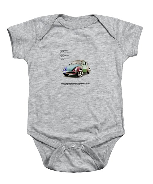 Vw Parts Baby Onesie by Mark Rogan
