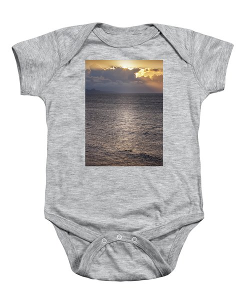 Waiting For The Last Wave Of The Day Baby Onesie
