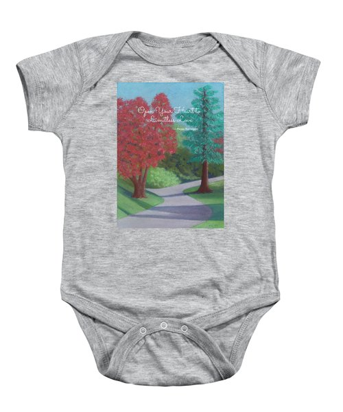 Waking Up - With Quote Baby Onesie