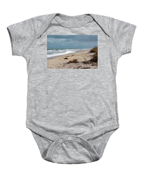 Walks On The Beach Baby Onesie