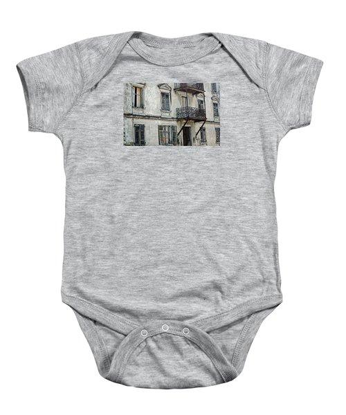 Abandoned War Torn Building In Bregenz Austria Baby Onesie