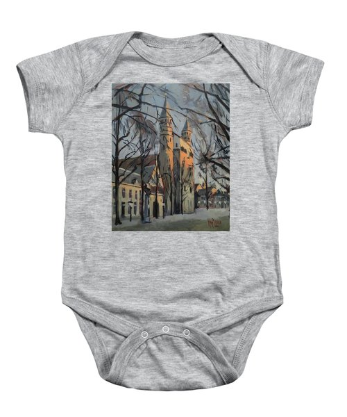 Warm Winterlight Olv Plein Baby Onesie