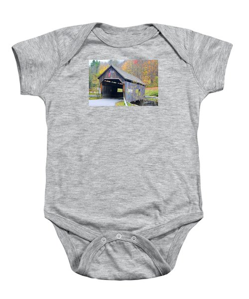 Warren Covered Bridge In Vermont Baby Onesie
