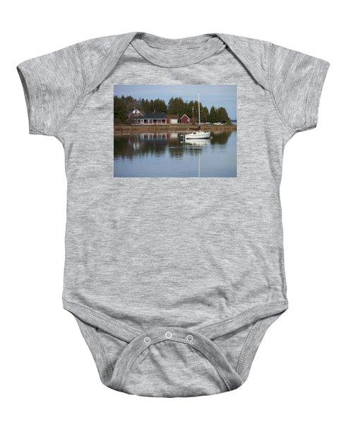 Washington Island Harbor 4 Baby Onesie