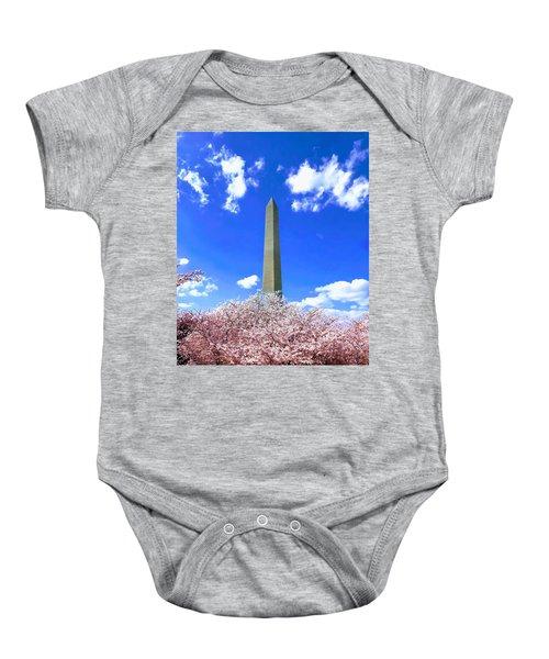 Washington Monument Cherry Blossoms Baby Onesie