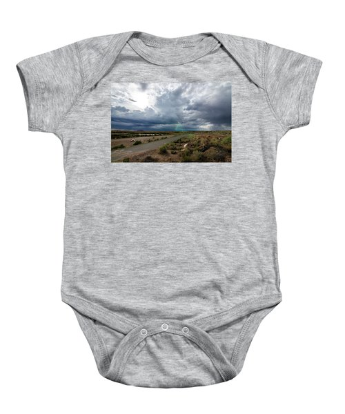 Watching The Storms Roll By Baby Onesie