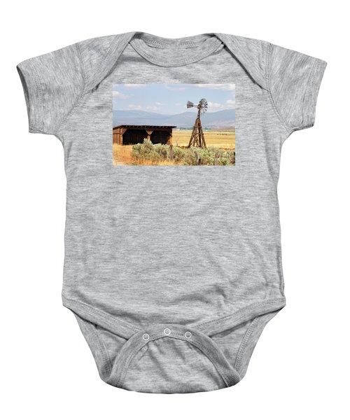 Water Pumping Windmill Baby Onesie