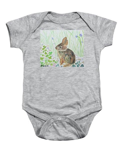 Watercolor - Baby Bunny Baby Onesie