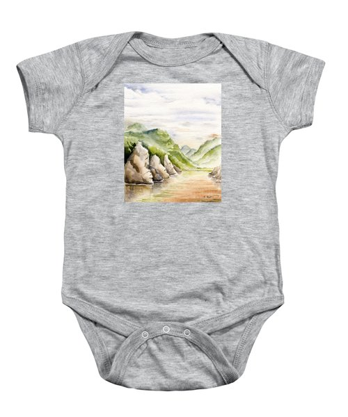 Watercolor Landscape Plein Air Baby Onesie