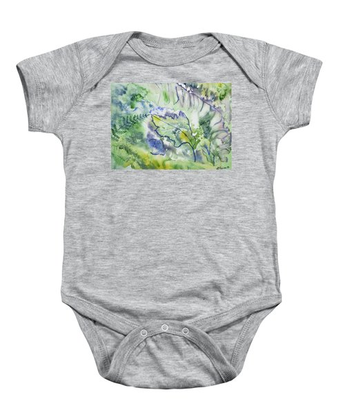 Watercolor - Leaves And Textures Of Nature Baby Onesie
