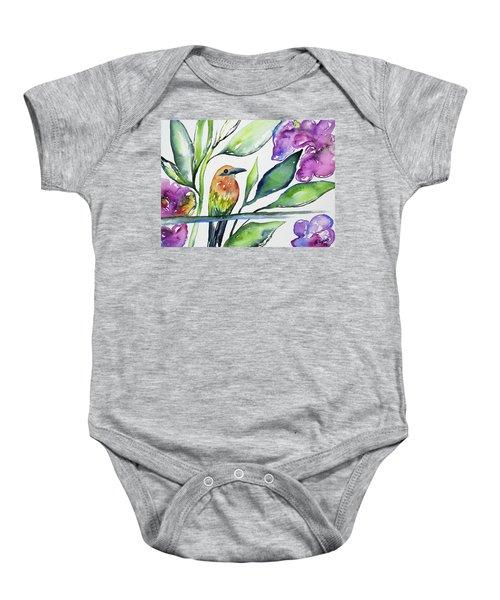 Watercolor - Rufous Motmot Baby Onesie
