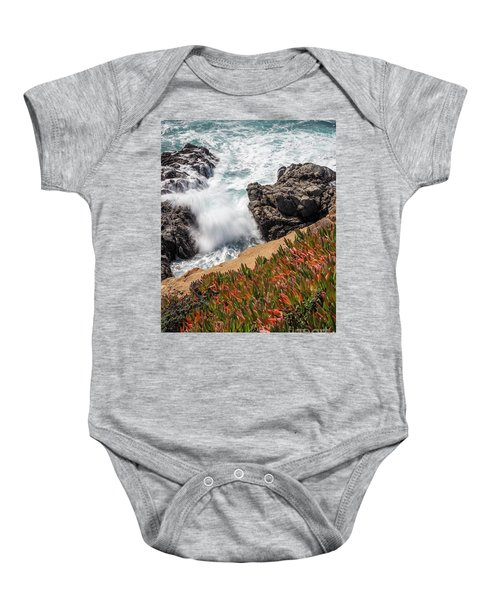 Waves And Rocks At Soberanes Point, California 30296 Baby Onesie