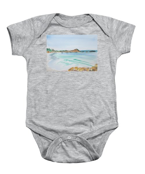 Waves Arriving Ashore In A Tasmanian East Coast Bay Baby Onesie