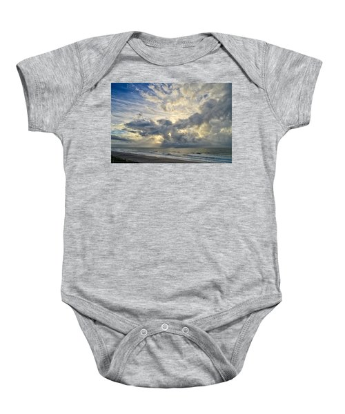 Weather Over Topsail Beach 2977 Baby Onesie