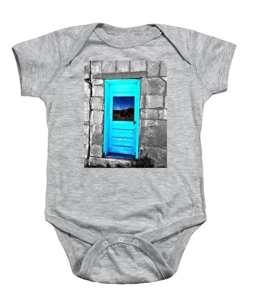 Weathered Blue Baby Onesie