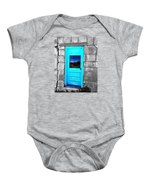 Weathered Blue Baby Onesie