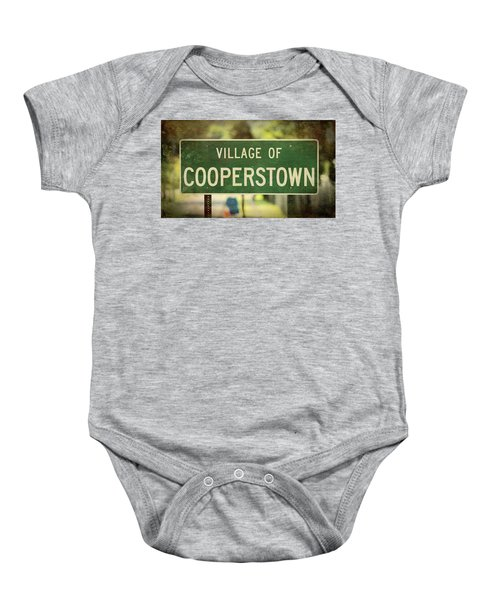 Welcome To Cooperstown Baby Onesie