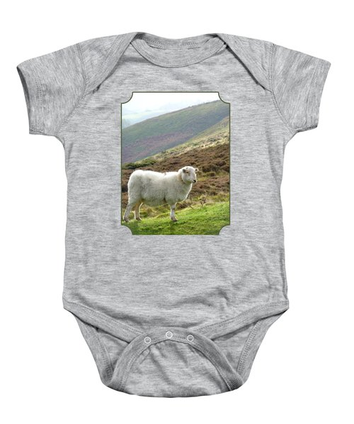 Welsh Mountain Sheep Baby Onesie by Gill Billington