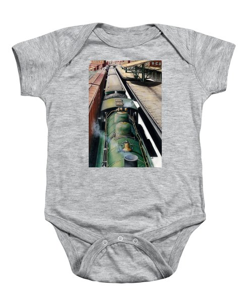 Eastbound To The Mountains Baby Onesie