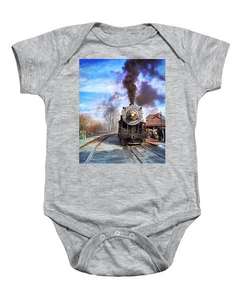 Western Maryland Steam Engine Baby Onesie