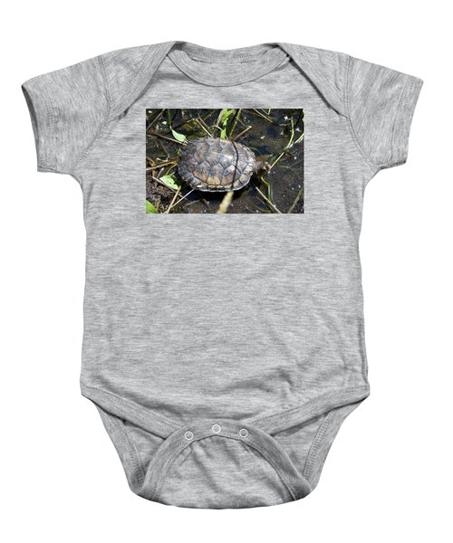 Western Pond Turtle, Actinemys Marmorata Baby Onesie