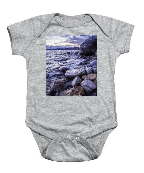 Wet Rocks At Sunset Baby Onesie