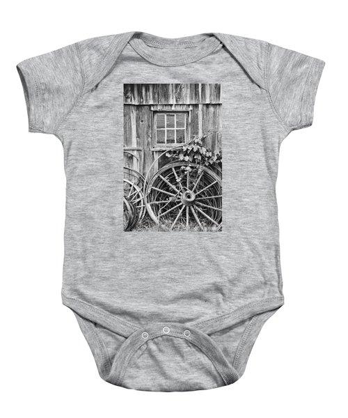 Wheels Wheels And More Wheels Baby Onesie