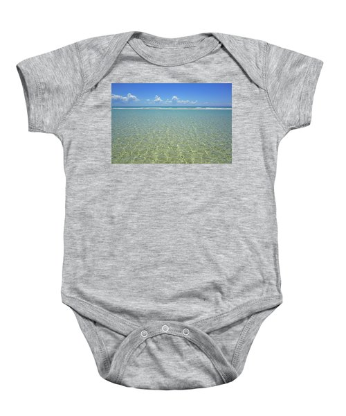Where Crystal Clear Ocean Waters Meet The Sky Baby Onesie