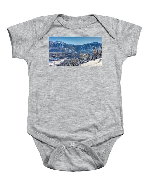 Whistler Blackcomb Winter Wonderland Baby Onesie