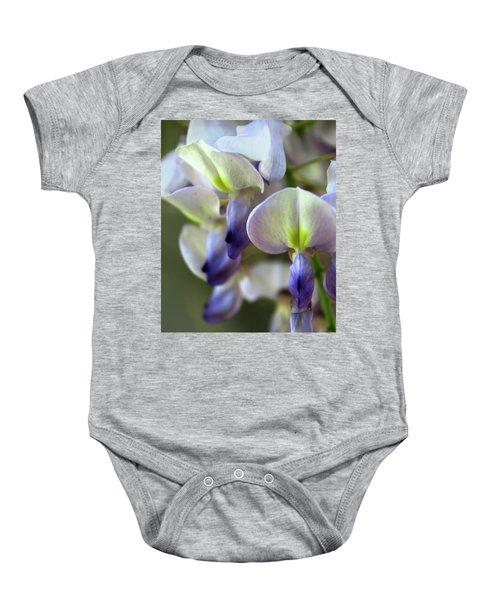 Wisteria White And Purple Baby Onesie