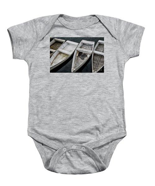 White Boats Baby Onesie