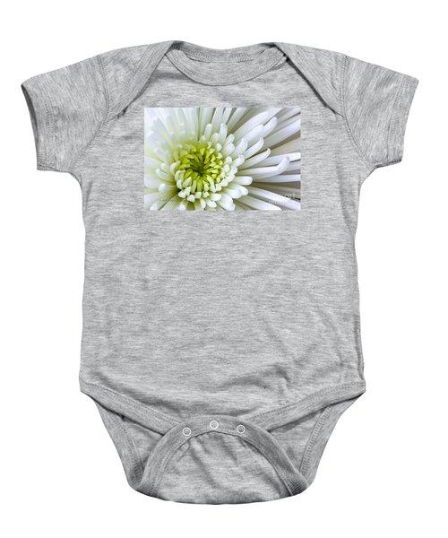 White Chrysanthemum Baby Onesie