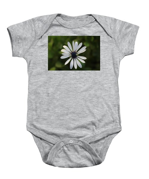 White Flower Baby Onesie